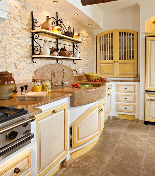 Стиль прованс в интерьере кухни фото своими