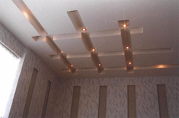 Декоративные потолки из гипсокартона своими руками