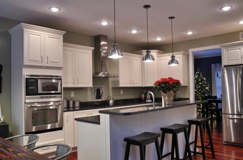 дизайн интерьера кухни студии на фото