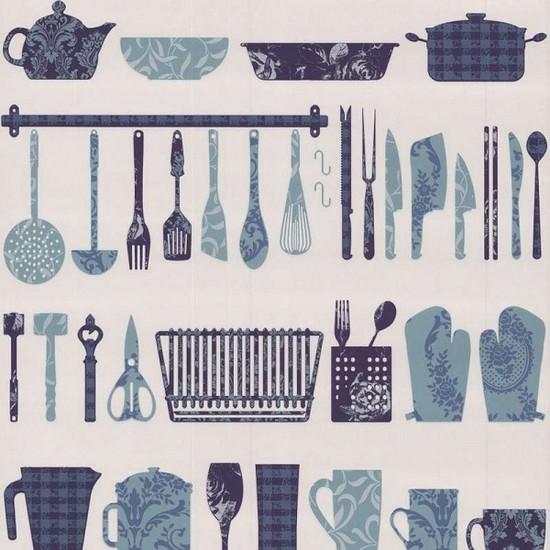 каталог обоев для кухни в стиле винтаж