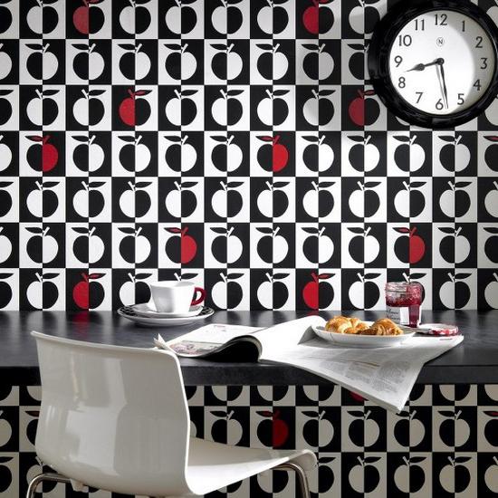 черно-белые обои для кухни фотогалерея
