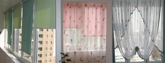 фото штор для балкона