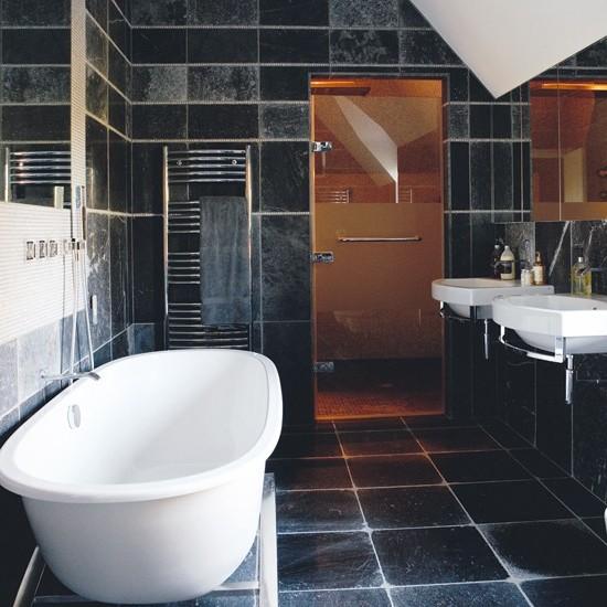 ванная комната черного цвета (15)