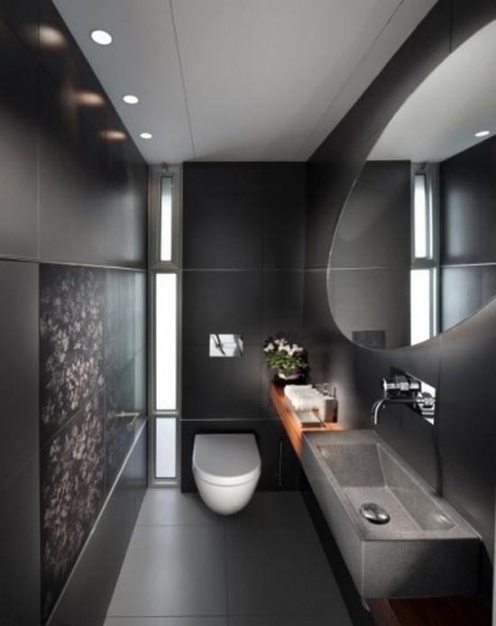 ванная комната черного цвета (8)