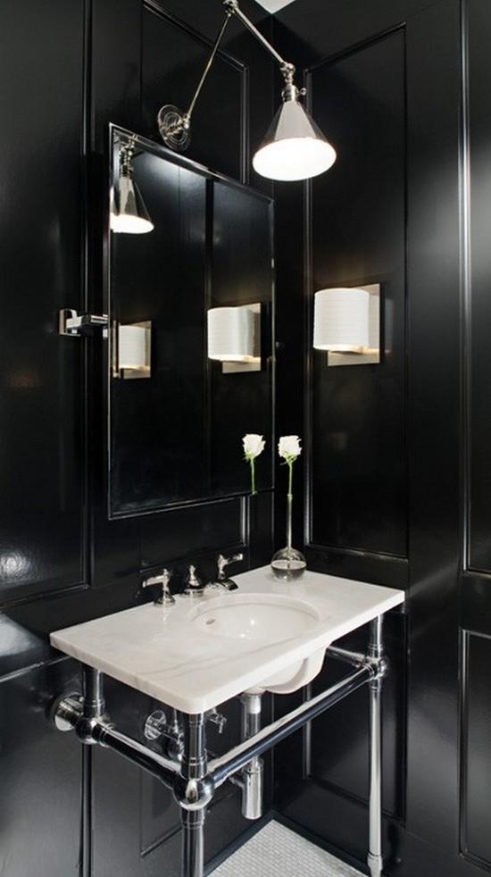 ванная комната черного цвета (6)