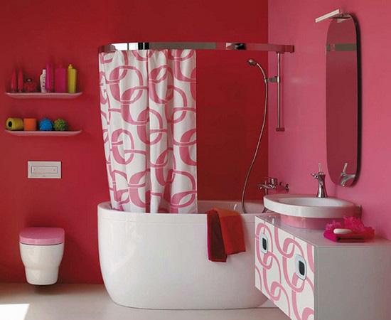 ванная комната красного цвета (24)