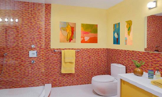 ванная комната красного цвета (23)