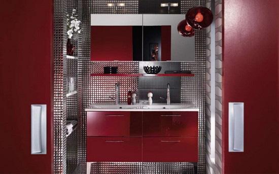 ванная комната красного цвета (22)