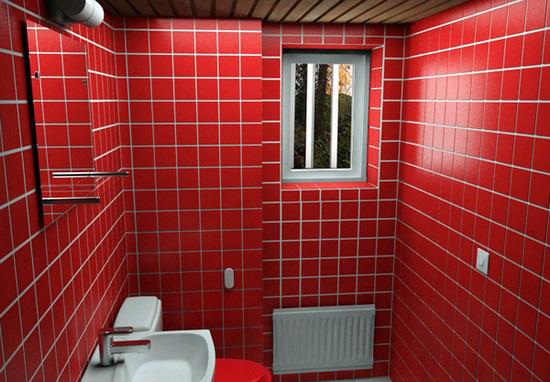 ванная комната красного цвета (21)
