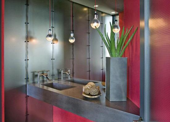 ванная комната красного цвета (20)