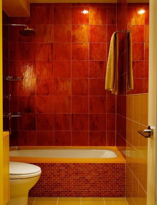 ванная комната красного цвета (19)