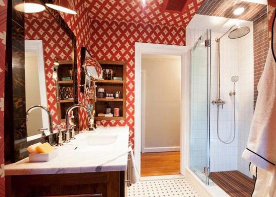 ванная комната красного цвета (18)