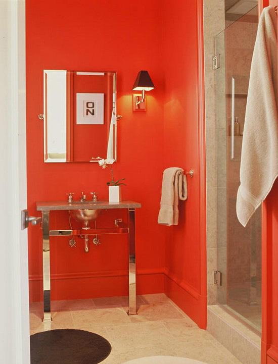 ванная комната красного цвета (17)