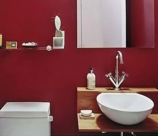 ванная комната красного цвета (16)
