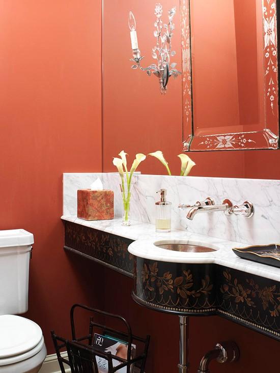 ванная комната красного цвета (15)