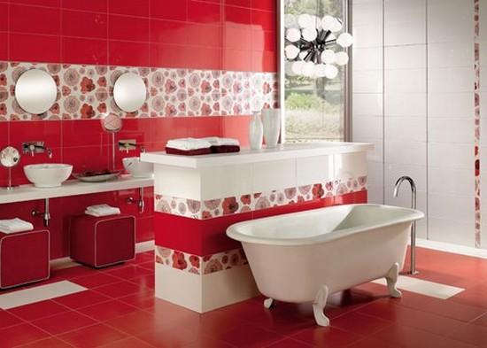 ванная комната красного цвета (14)