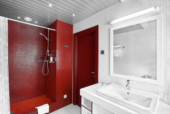 ванная комната красного цвета (13)