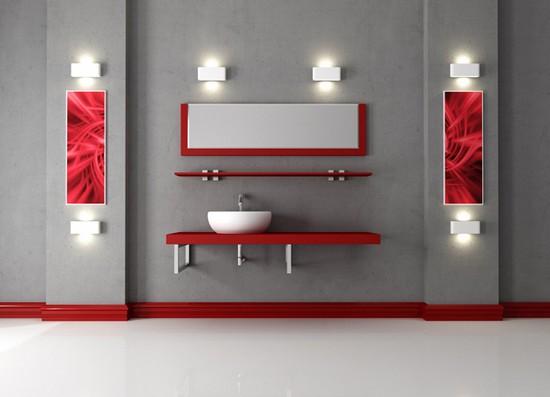 ванная комната красного цвета (12)