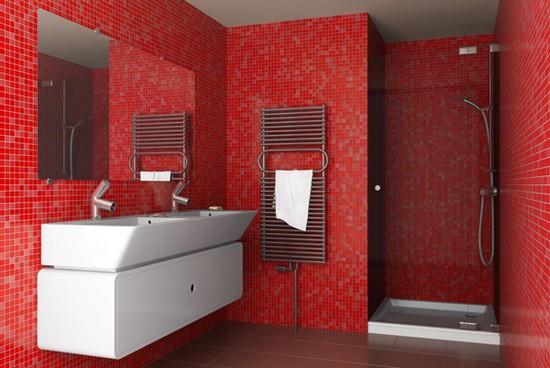 ванная комната красного цвета (11)