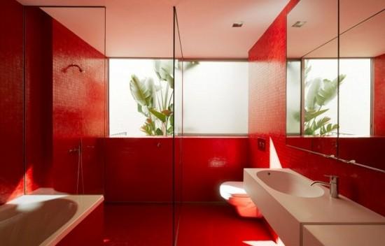 ванная комната красного цвета (10)