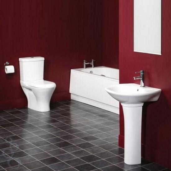 ванная комната красного цвета (9)