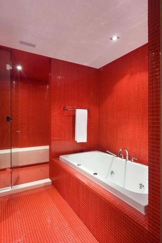 ванная комната красного цвета (8)