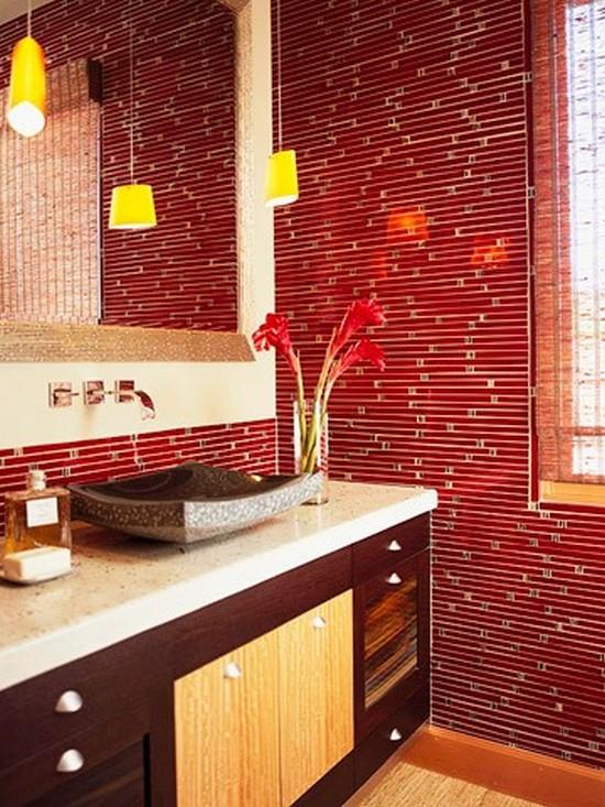 ванная комната красного цвета (7)