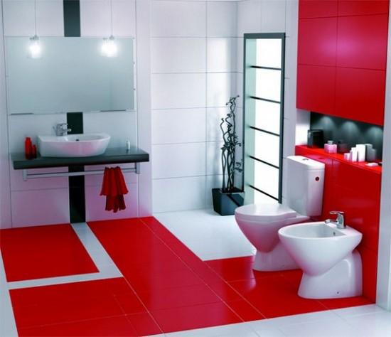 ванная комната красного цвета (6)