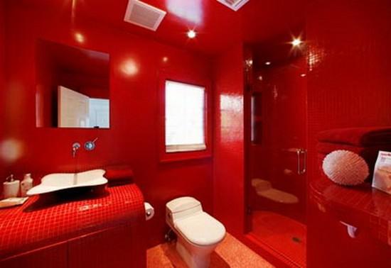 ванная комната красного цвета (5)