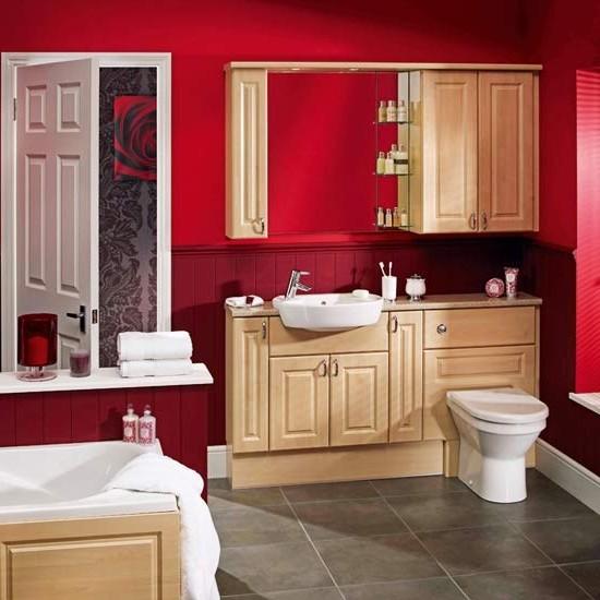 ванная комната красного цвета (2)