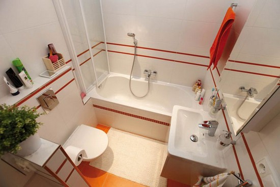 Дизайн маленькой ванной комнаты 14