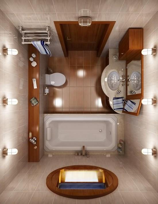 дизайн маленькой ванной комнаты (10)