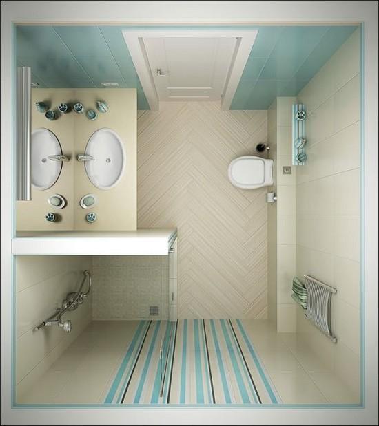 дизайн маленькой ванной комнаты (7)