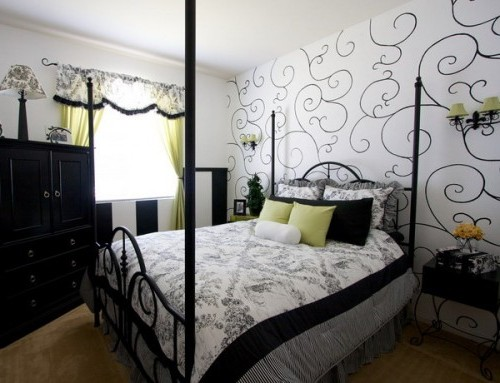 каталог фото обоев для спальни