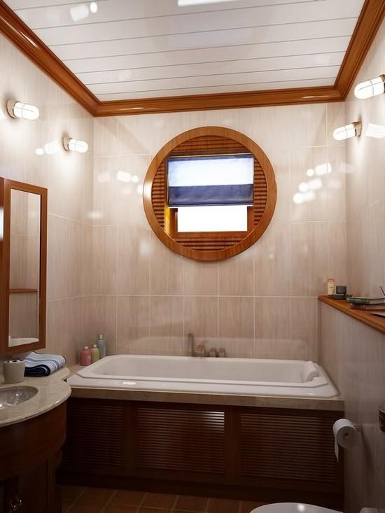 малогабаритная ванная комната 4 кв. м.