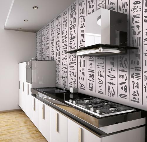 на кухне фотообои