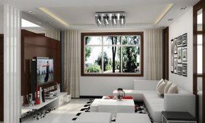 Дизайн гостиной спальни 16 кв. м.