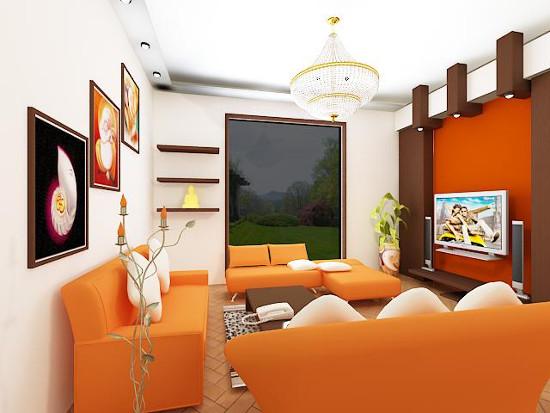 Цвет интерьера гостинной