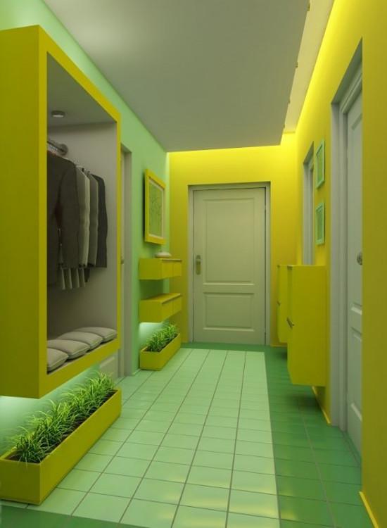 цвет стен в маленьком коридоре сегодня наиболее удачным