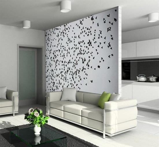 Дизайн стен гостиной своими руками