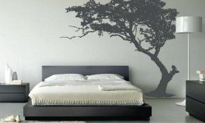 Декор стен в спальне своими руками
