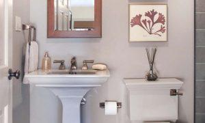 Дизайн интерьера маленького туалета