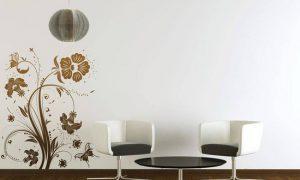Виниловые стикеры в интерьере на стены