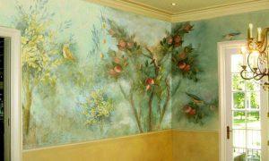 Декоративная роспись в интерьере квартиры