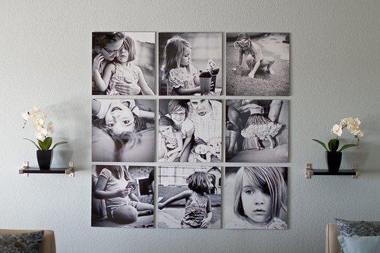 Оформление фото на стене