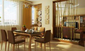Интерьер комнаты под бамбук