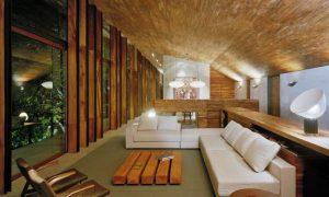 Необычные «деревянные» интерьеры