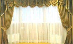 Популярные виды эркерных карнизов для штор