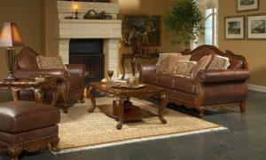 Кожаная мебель в интерьере – фото идеи