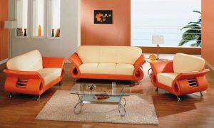 С чем сочитается персиковый цвет в интерьере